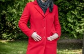Kabát Fina červená