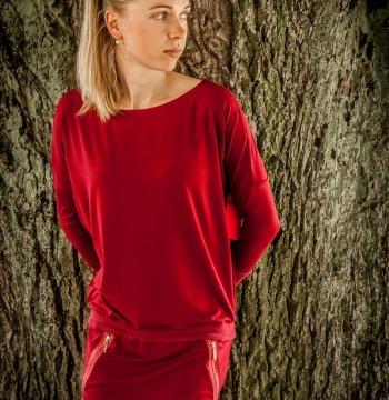 Šaty Blanka - farba červená
